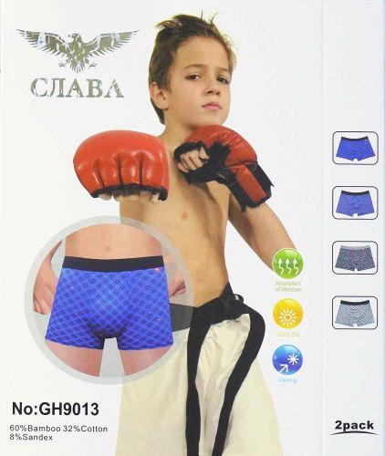 ТРУСЫ-боксеры на мальчика 6-15лет СЛАВА №GH9013